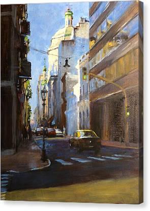 Calle Defensa Canvas Print