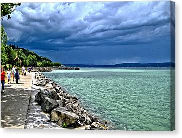 Canvas Print featuring the photograph Calm Before The Storm by Rob Green