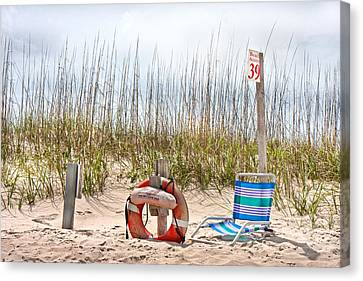 Bouys Canvas Print - Calm By The Sea by Betsy Knapp