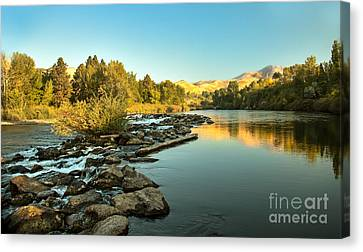 Calm Payette Canvas Print by Robert Bales