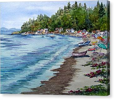 Camano Island In Washington Canvas Print