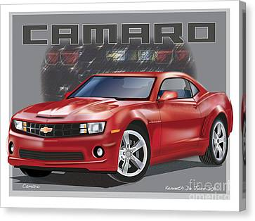 Camaro Canvas Print by Kenneth De Tore
