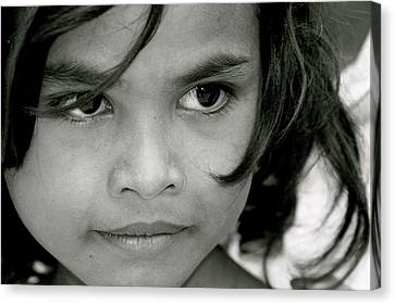 Cambodian Eyes Canvas Print