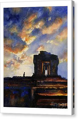Cambodian Sunset Canvas Print by Ryan Fox