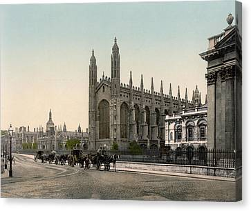Cambridge - England - Kings College Canvas Print by International  Images