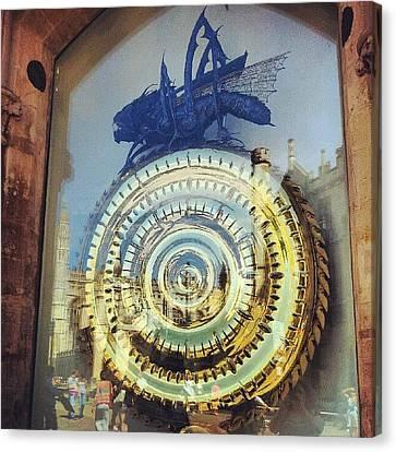 Steampunk Canvas Print - #cambridge #steampunk #clock by Christelle Vaillant