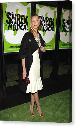 Opening Night Canvas Print - Cameron Diaz Wearing A Bill Blass Dress by Everett