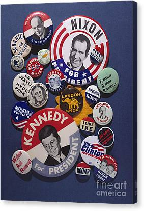 Ewing Canvas Print - Campaign Buttons by Granger