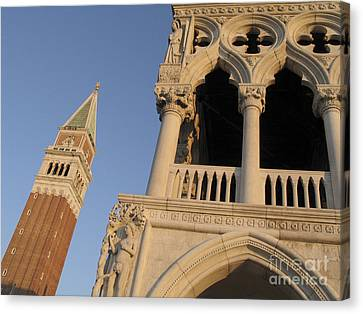 Serenisim Canvas Print - Campanile And Palace Ducal. Venice by Bernard Jaubert
