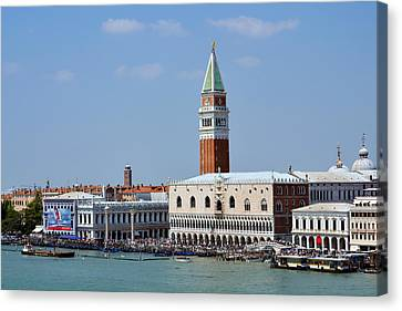 Campanile San Marco Canvas Print by Terence Davis