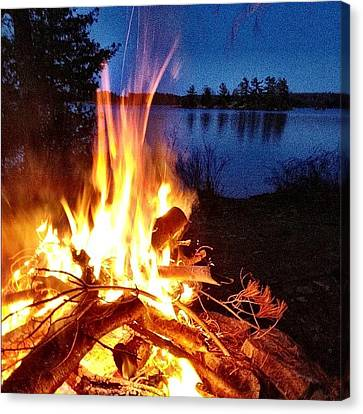 Instahub Canvas Print - Campfire by Christopher Campbell