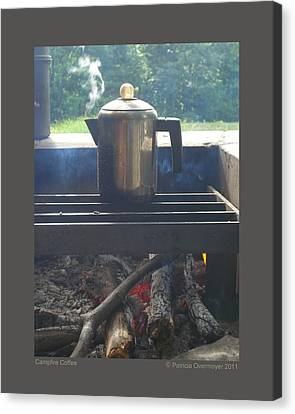 Campfire Coffee Canvas Print by Patricia Overmoyer