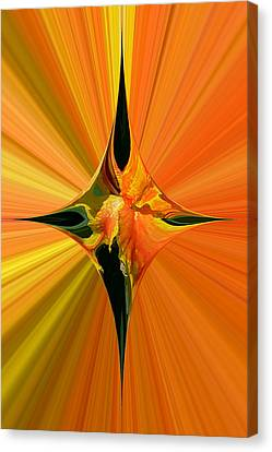 Cana Lily In Hyperdrive Canvas Print by Gordon Engebretson