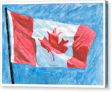 Canvas Print featuring the painting Canada Day by Ana Tirolese