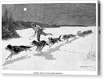 Canada: Fur Trade, 1892 Canvas Print by Granger