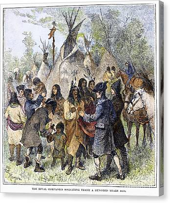 Canada: Fur Trade, C1780 Canvas Print by Granger