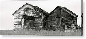 Canvas Print featuring the photograph Canadian Barns by Jerry Fornarotto