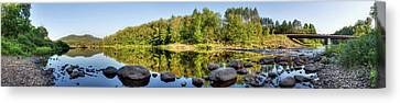 Canadian Lake Canvas Print by Nick  Shirghio