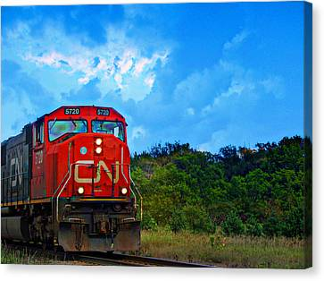 Canadian Northern Railway Train Canvas Print by Ms Judi