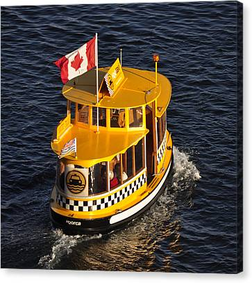 Canadian Water Taxi Canvas Print by MaryJane Armstrong