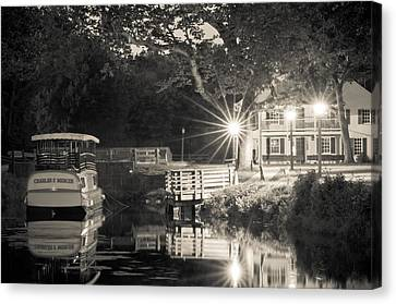 Canal Boat Canvas Print by Scott Faunce