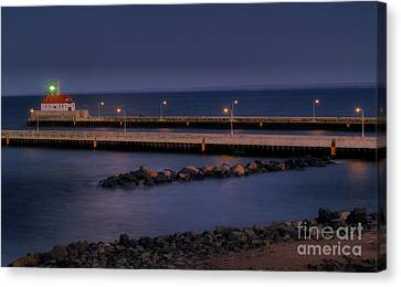 Duluth Canal Park Canal Park Lighthouse Lighthouse Lake Superior Minnesota Canvas Print - Canal Park by Jimmy Ostgard