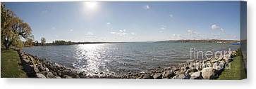 Canvas Print featuring the photograph Canandaigua Lake Panorama by William Norton