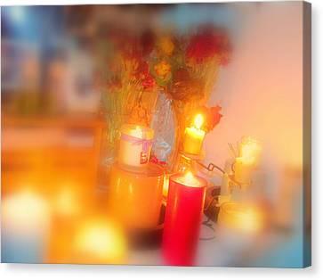 Candle Llight Canvas Print by Amy Bradley