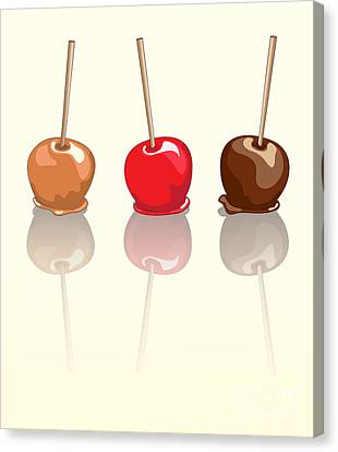 Candy Apples Reflected Canvas Print by Jane Rix