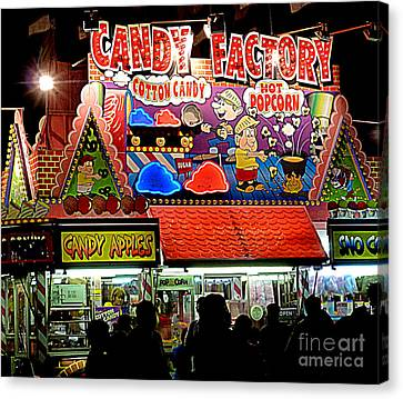 Canvas Print featuring the photograph Candy Factory by Renee Trenholm