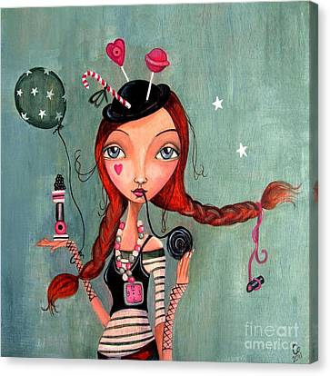 Candy Girl  Canvas Print by Caroline Bonne-Muller