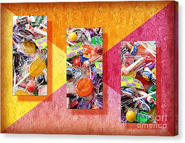 Candy Is Dandy Triptych Canvas Print