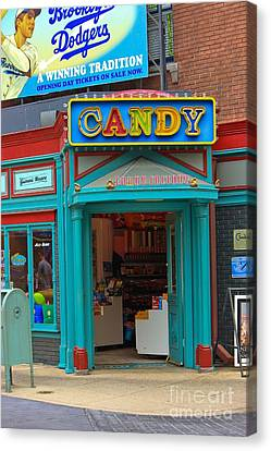 Candy Store Canvas Print by Sophie Vigneault