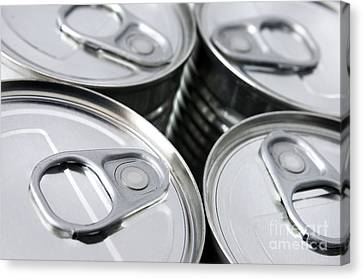 Labelled Canvas Print - Canned Food by Carlos Caetano