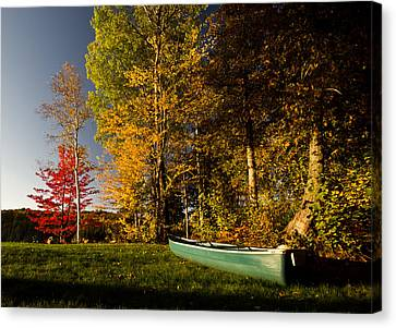 Canoe Canvas Print by Cale Best