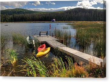 Canoe Canada Canvas Print by Peter Olsen