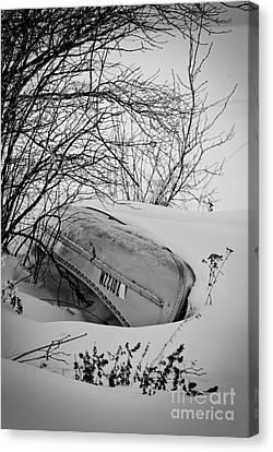 Canoe Hibernation Canvas Print by Mark David Zahn Photography