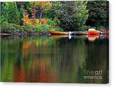 Canoe Lake Canvas Print by Charline Xia