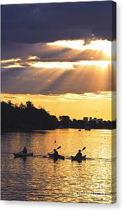 Canoeing Canvas Print