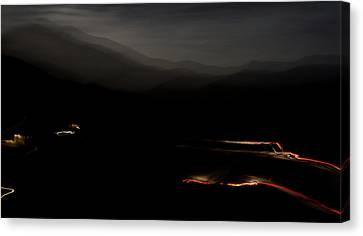 Canoncito At Night Canvas Print by Atom Crawford