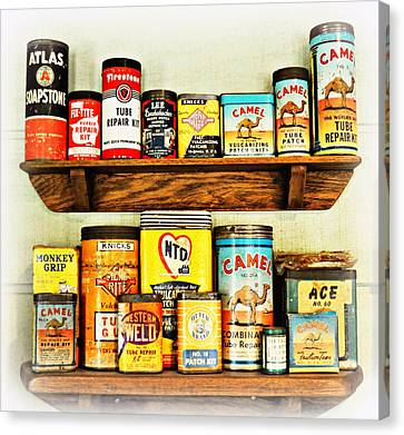 Cans Of Old Canvas Print by Marty Koch