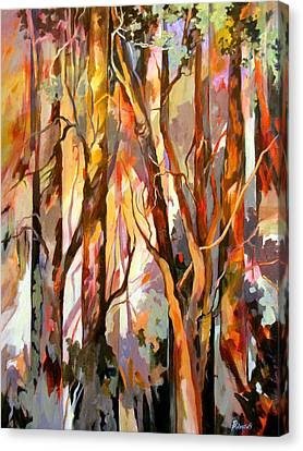 Canvas Print featuring the painting Cant See The Forest For The Trees by Rae Andrews