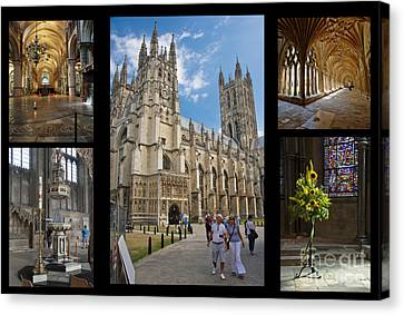 Canterbury Cathedral Collage Canvas Print by Donald Davis