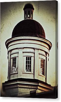 Canvas Print featuring the photograph Canton Courthouse Dome by Jim Albritton