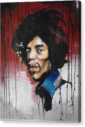 Canvas Jimi Canvas Print by Matt Burke