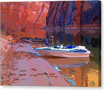 Canyon Boating Canvas Print by Mary M Collins