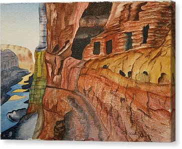 Canvas Print featuring the painting Canyon De Chilly by Teresa Beyer