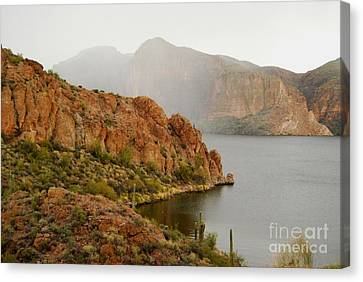 Canvas Print featuring the photograph Canyon Lake by Tam Ryan