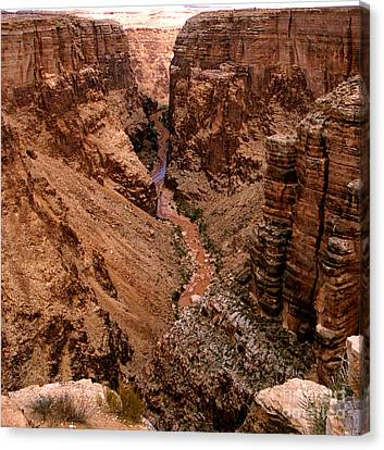 Canyon Mountain Canvas Print by The Kepharts