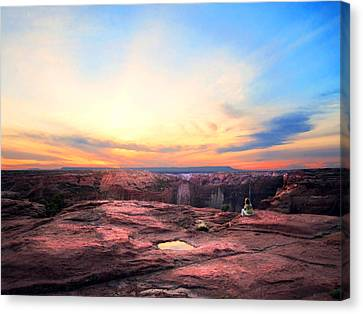 Canyon Sunset Canvas Print by Ric Soulen